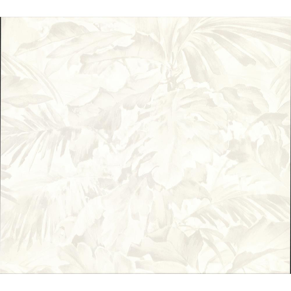 Advantage by Brewster 2834-529203 Advantage Metallics Boyce Ivory Botanical Wallpaper