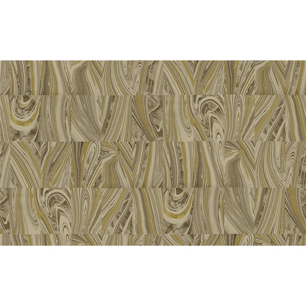 Advantage by Brewster 2835-C88613 Deluxe Boulders Brown Glitter Marble Wallpaper
