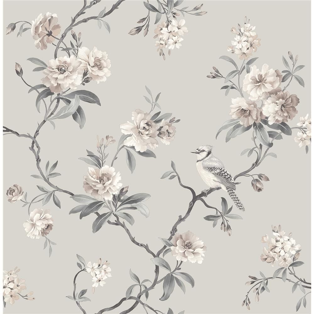 Fine Décor by Brewster 2900-40764 Chinoiserie Stone Floral Wallpaper