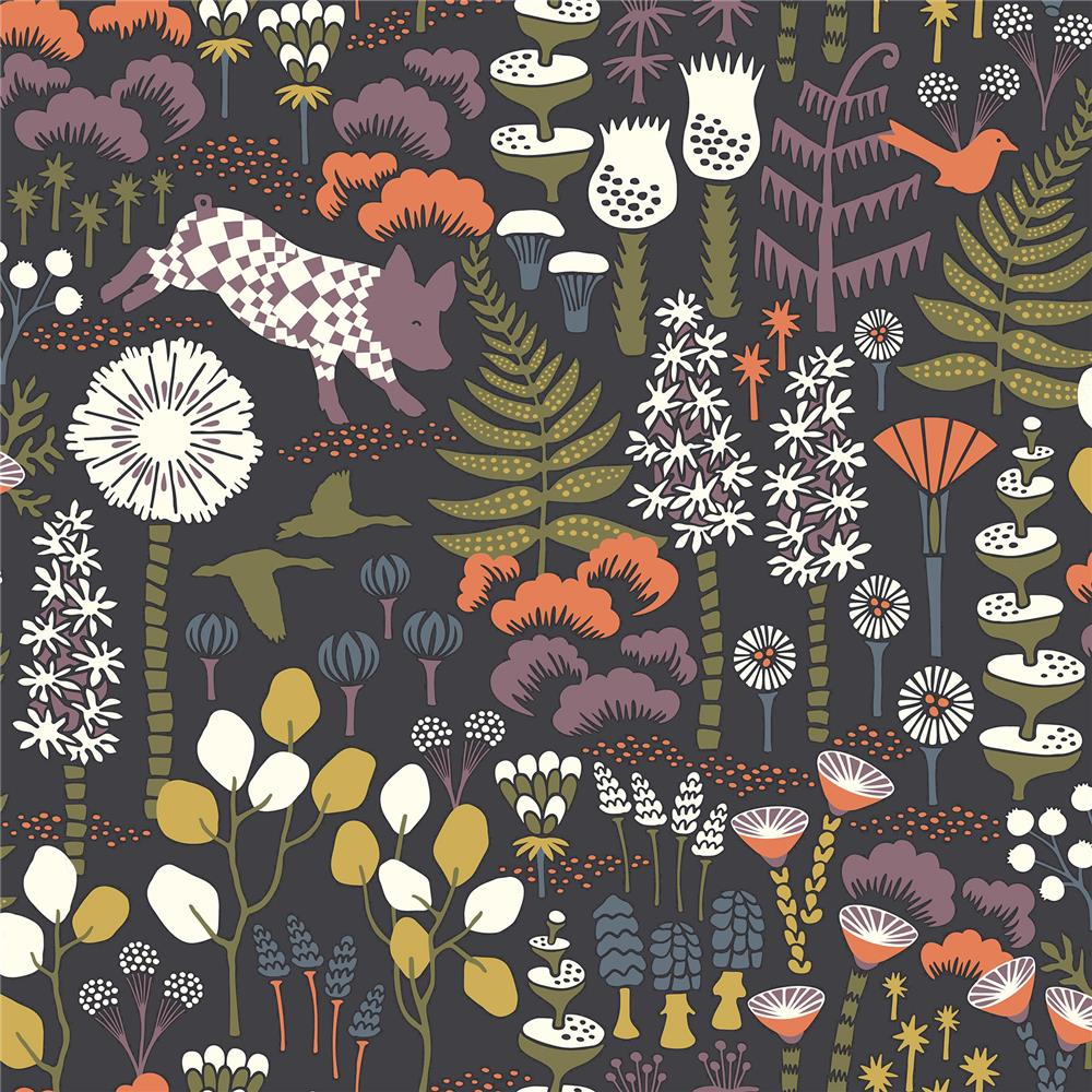 Brewster 2904-1452 Hoppet Folk Multicolor Scandinavian Wallpaper