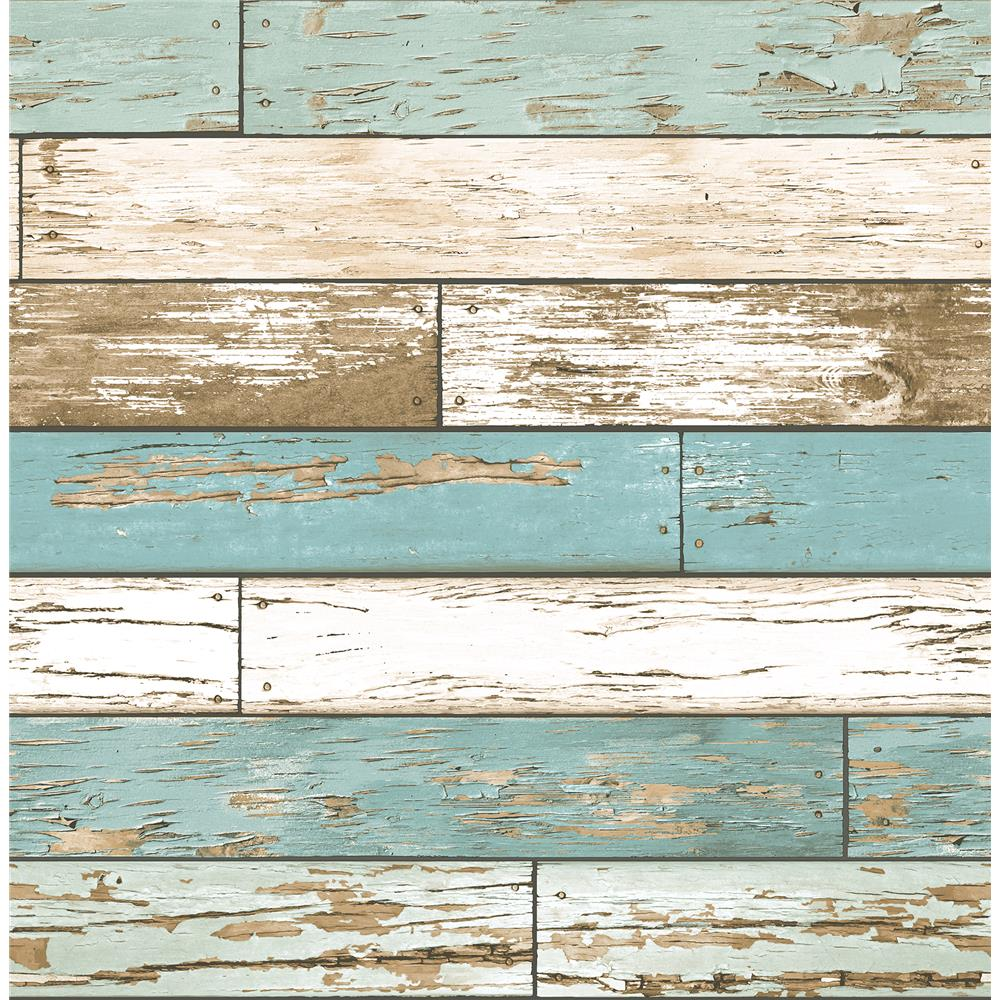 Brewster 2904-22318 Juda Blue Scrap Wood Wallpaper