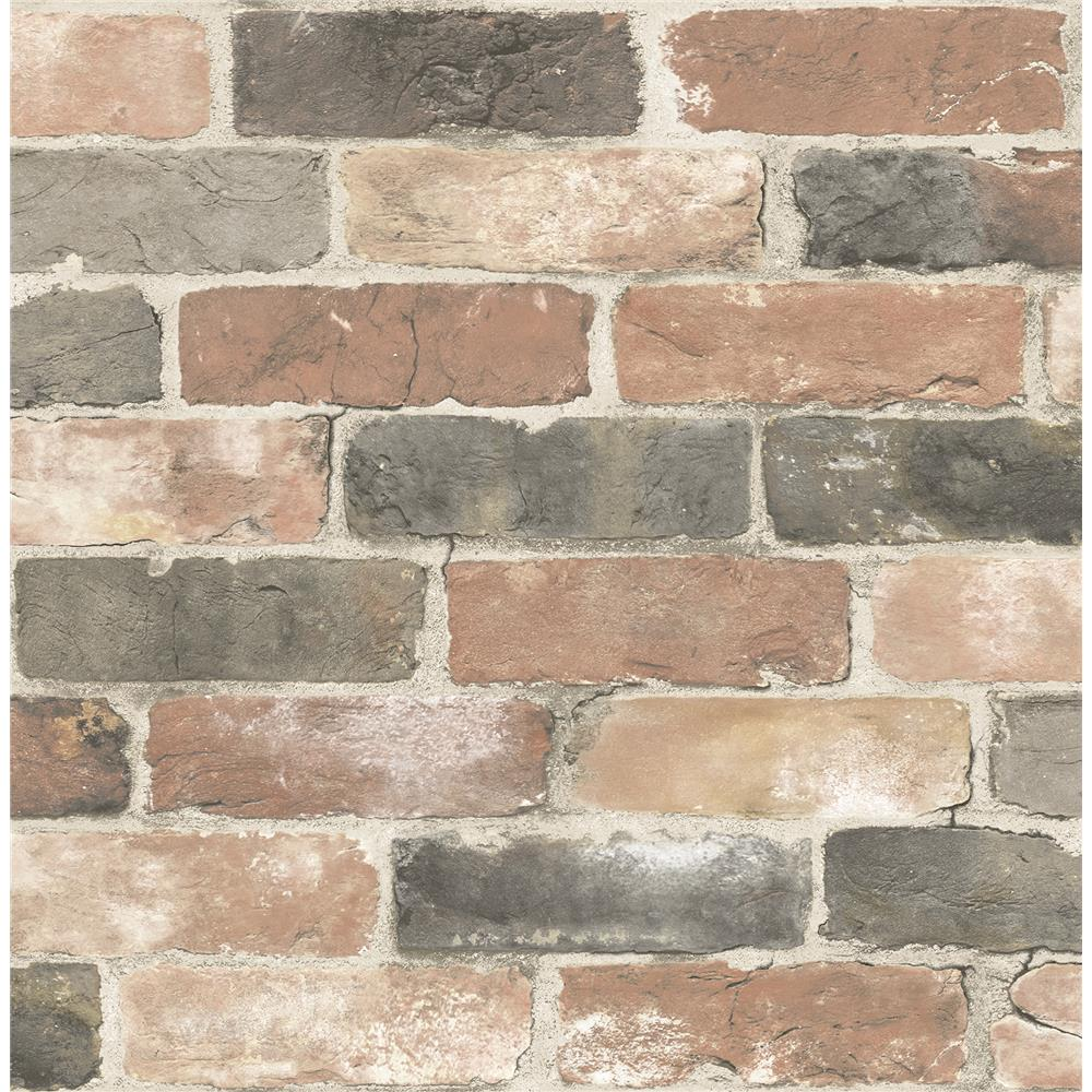 Brewster 2904-22320 Cody Red Reclaimed Bricks Wallpaper
