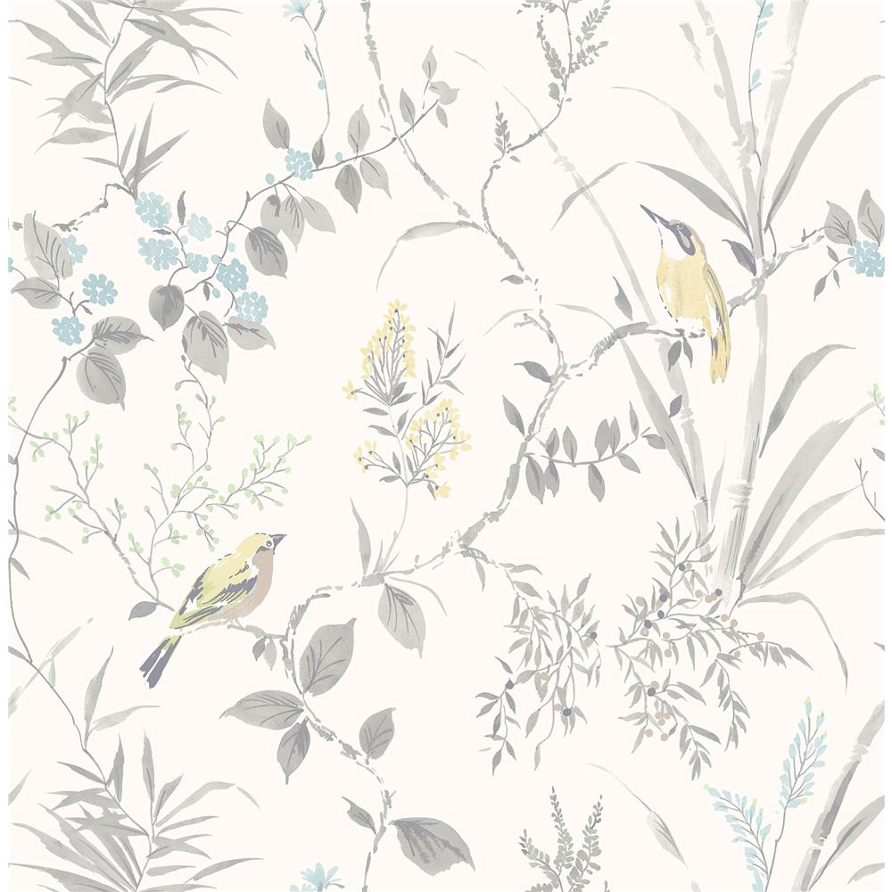 Brewster 2904-24172 Imperial Garden Light Grey Botanical Wallpaper