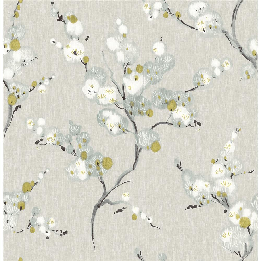 Brewster 2904-24308 Bliss Blue Floral Wallpaper