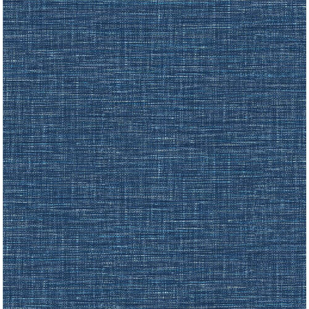 A-Street Prints by Brewster 2969-24120 Exhale Dark Blue Woven Texture Wallpaper