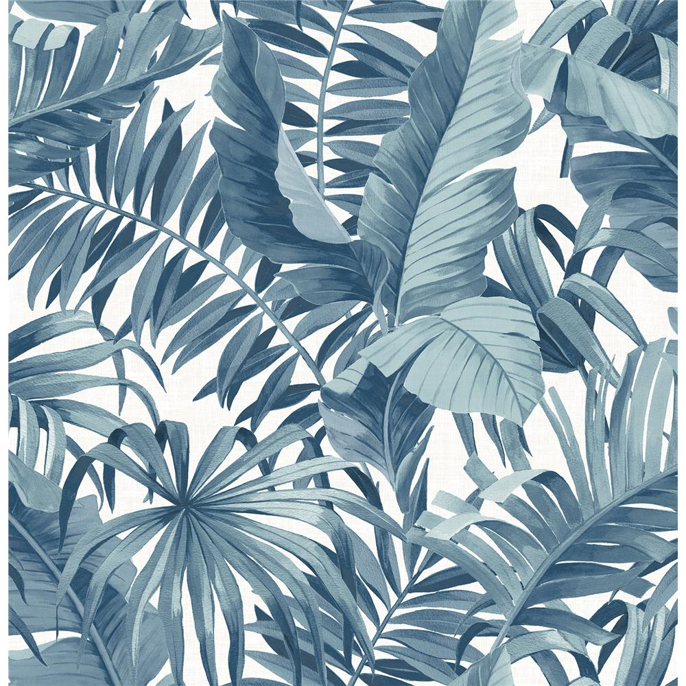 A-Street Prints by Brewster 2969-24133 Alfresco Blue Tropical Palm Wallpaper
