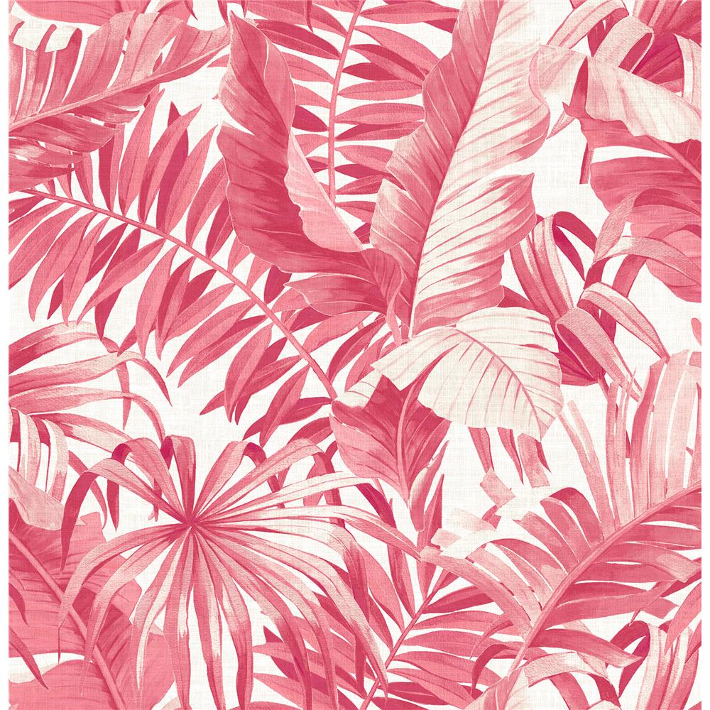 A-Street Prints by Brewster 2969-26054 Alfresco Pink Tropical Palm Wallpaper