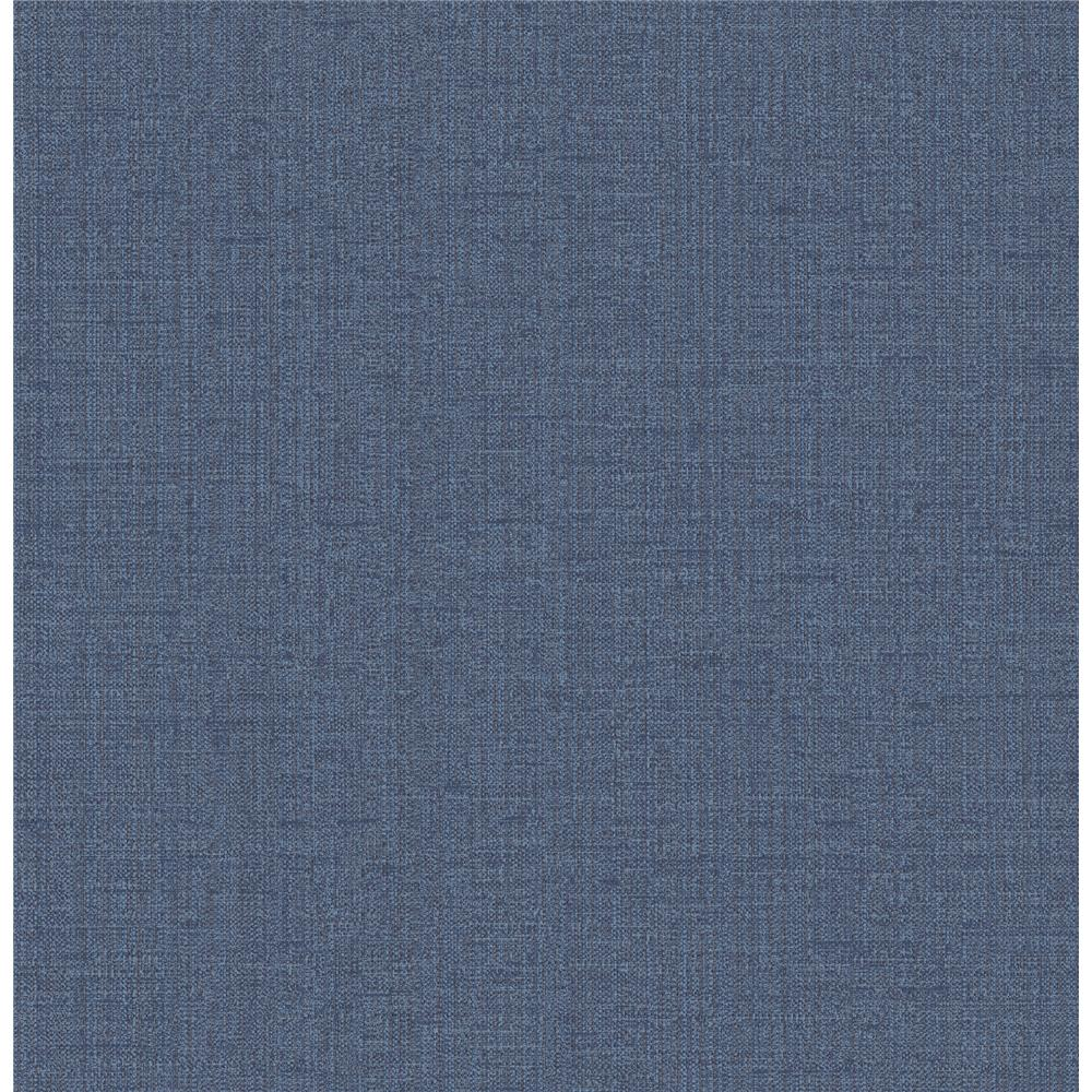 Chesapeake by Brewster 3114-003363 Chelsea Blue Weave Wallpaper