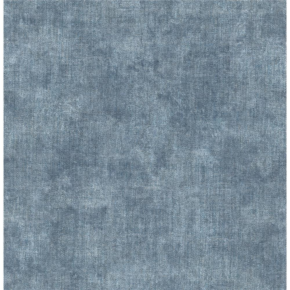 Chesapeake by Brewster 3114-003386 Gramercy Blue Linen Wallpaper