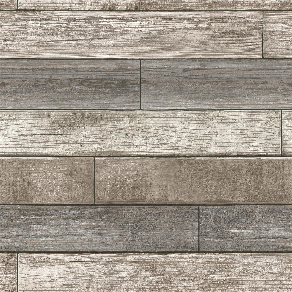 Chesapeake by Brewster 3115-NU1690 Farmhouse Emory Multicolor Reclaimed Wood Plank Wallpaper