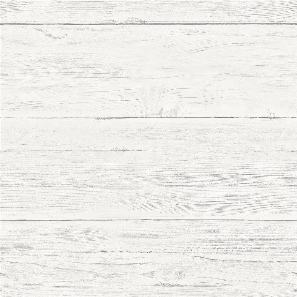 Chesapeake by Brewster 3115-NU2187 Farmhouse Jared Off-White Shiplap Wallpaper
