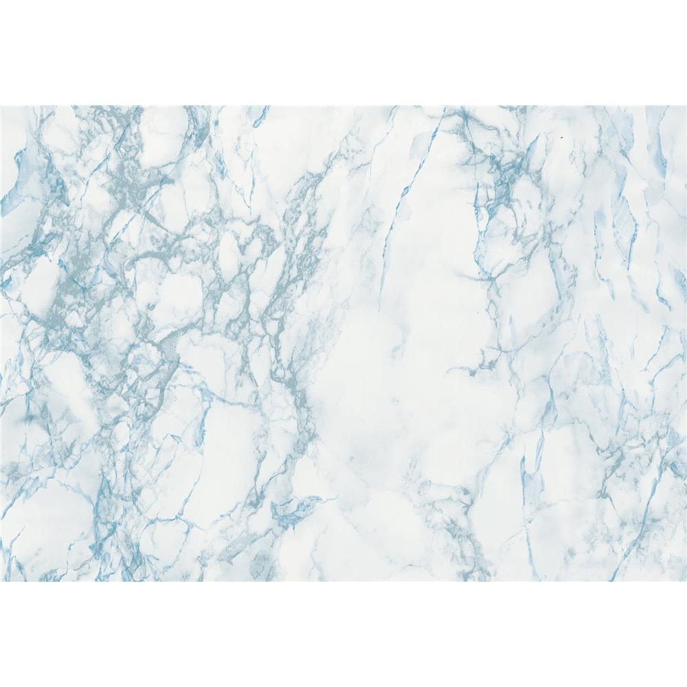 DC Fix by Brewster 346-0121 DC Fix Gray And Blue Marble Adhesive Film