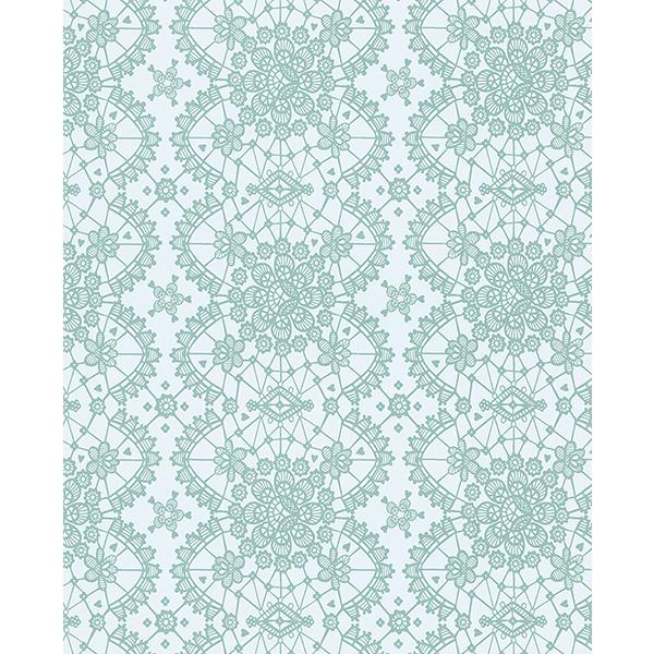 Eijffinger by Brewster 359013 Myte Mint Lace Wallpaper