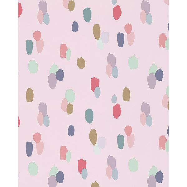 Eijffinger by Brewster 359051 Amalie Light Pink Painted Dots Wallpaper