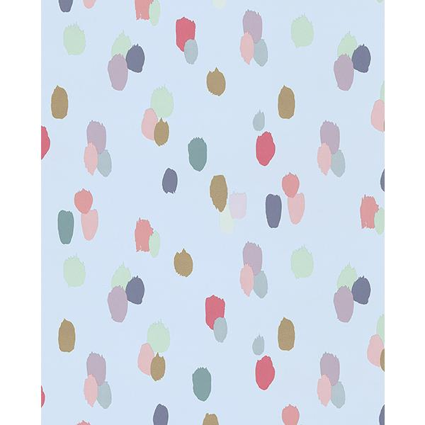 Eijffinger by Brewster 359053 Amalie Light Blue Painted Dots Wallpaper