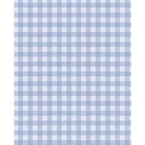 Eijffinger by Brewster 359085 Kay Blue Vichy Check Wallpaper
