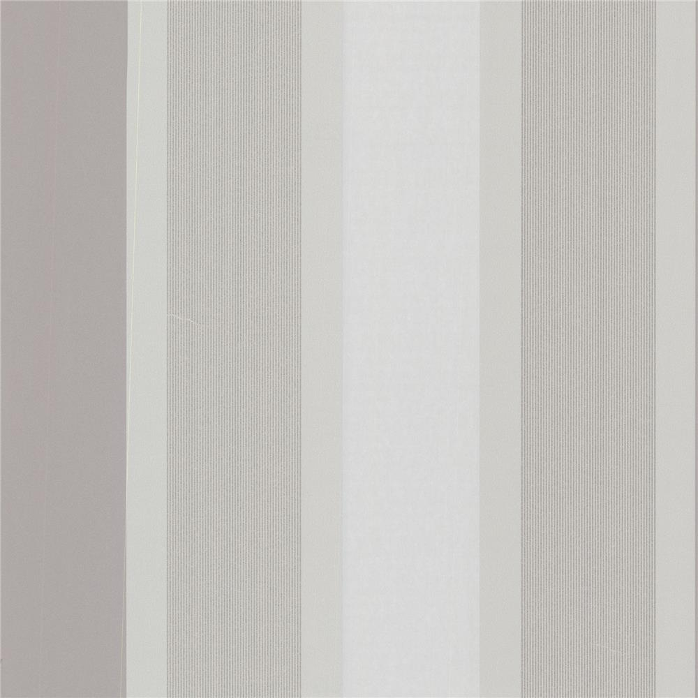 Decorline by Brewster 488-31224 Geo Horizon Silver Stripe Wallpaper in Silver