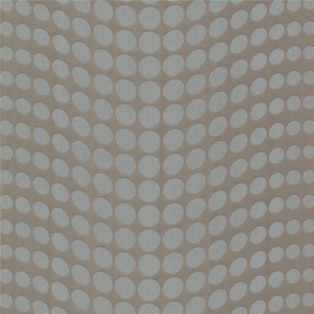 Decorline by Brewster 488-31229 Geo Genesis Silver Dotty Wallpaper in Silver