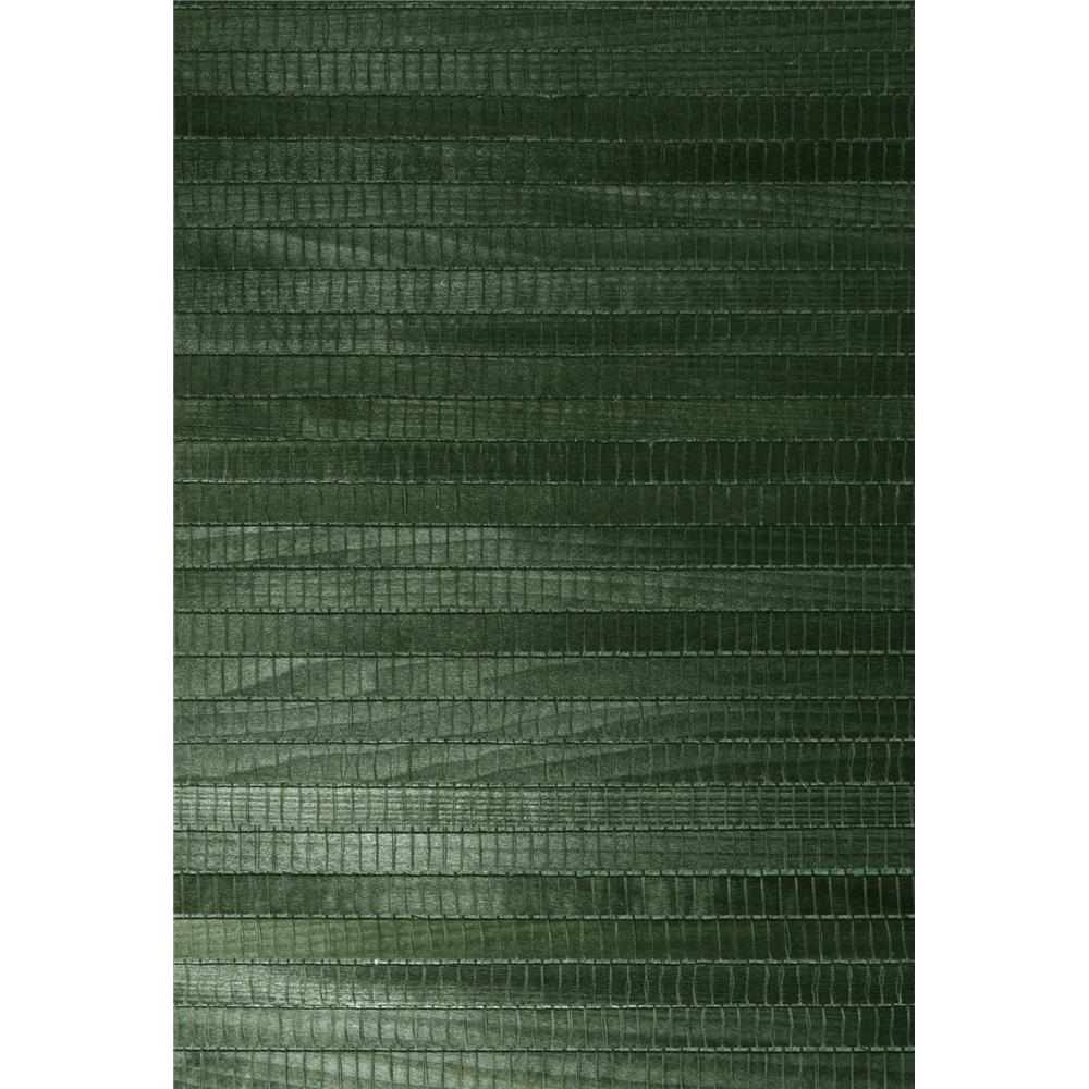 Kenneth James by Brewster 63-54731 Shangri La Michiko Green Grasscloth Wallpaper in Green
