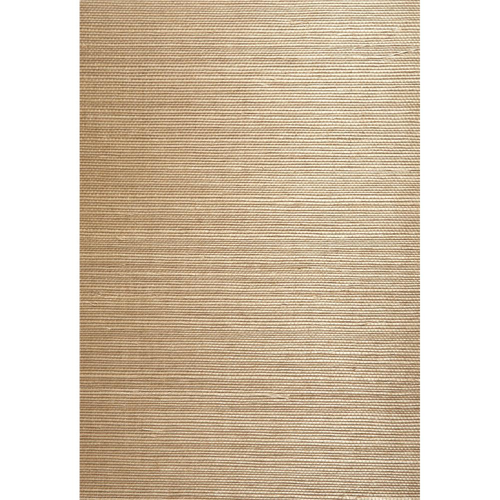 Kenneth James by Brewster 63-54741 Shangri La Chang Taupe Grasscloth Wallpaper in Taupe
