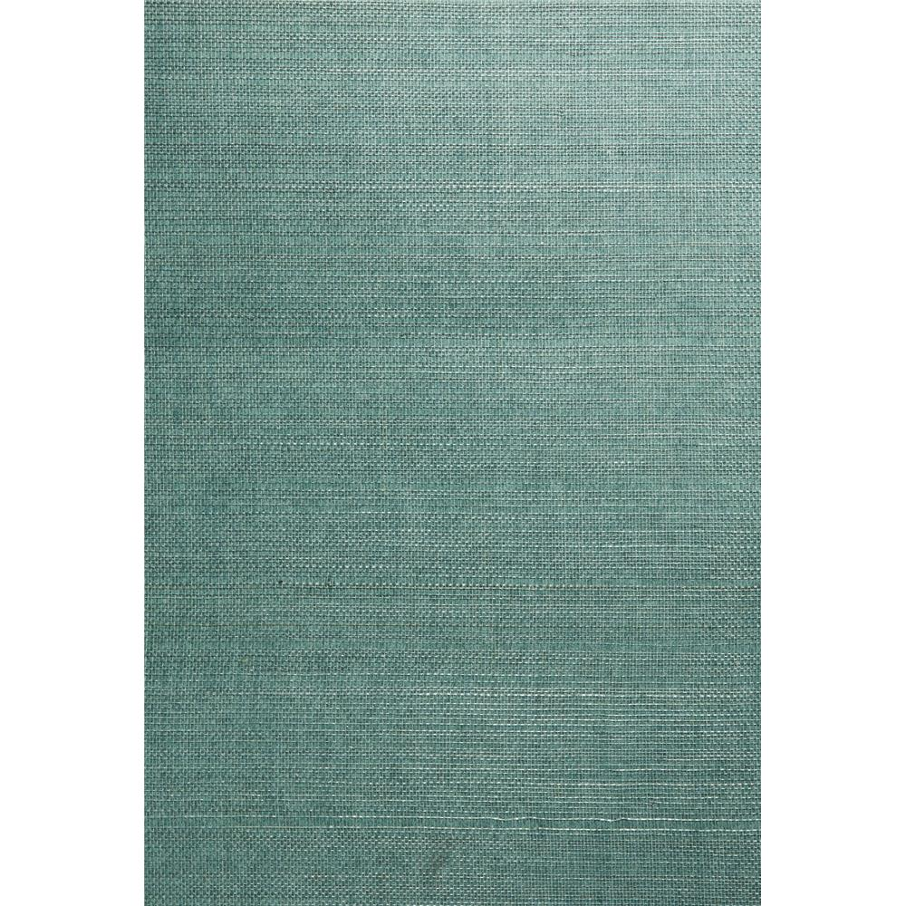 Kenneth James by Brewster 63-54758 Shangri La Kimiyo Aqua Grasscloth Wallpaper in Aqua