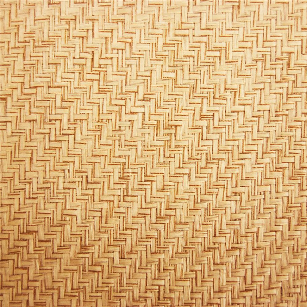 Kenneth James by Brewster 63-54775 Shangri La Li Qin Beige Grasscloth Wallpaper in Beige
