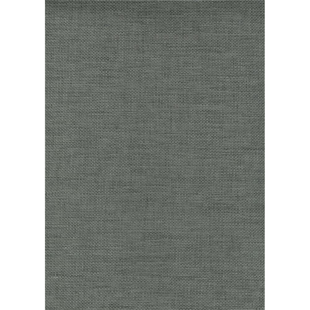 Kenneth James by Brewster 63-54784 Shangri La Juan Gray Grasscloth Wallpaper in Gray