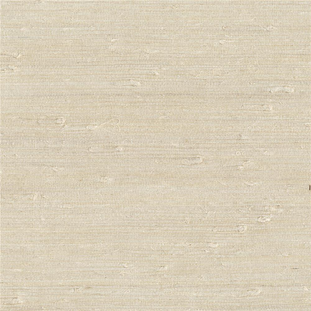 Kenneth James by Brewster 63-65651 Shangri La Ling Cream Grasscloth Wallpaper in Cream