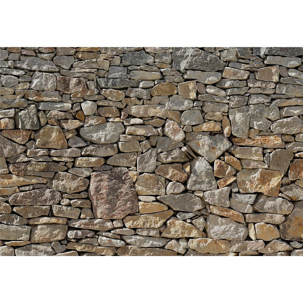 Komar by Brewster 8-727 Stone Wall Wall Mural