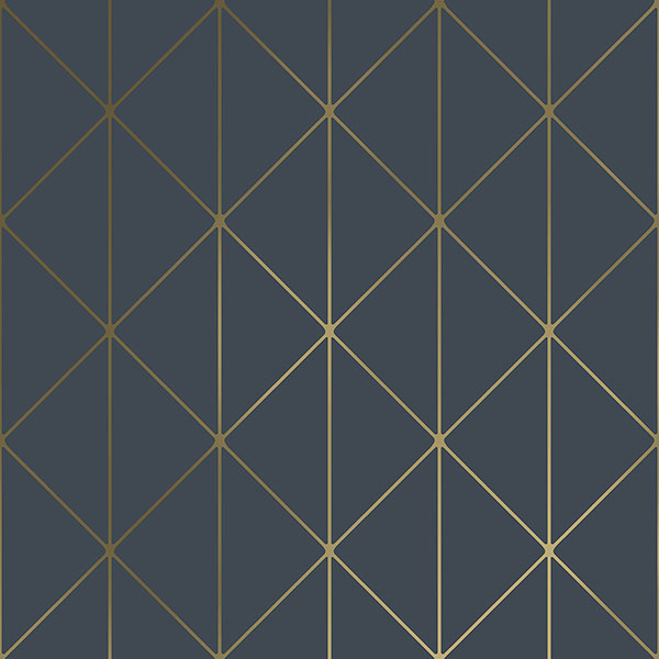 Engblad & Co by Brewster 8804 Diamonds Navy Geometric Wallpaper