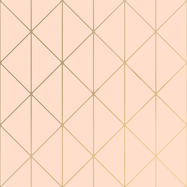 Engblad & Co by Brewster 8805 Diamonds Blush Geometric Wallpaper