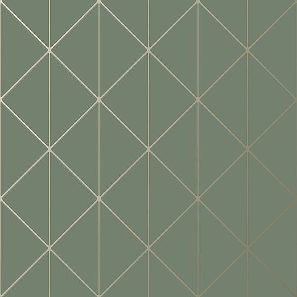 Engblad & Co by Brewster 8806 Diamonds Olive Geometric Wallpaper