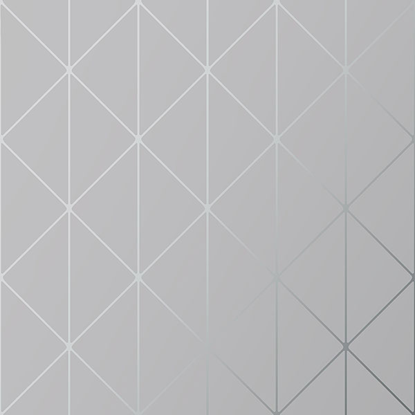 Engblad & Co by Brewster 8807 Diamonds Grey Geometric Wallpaper