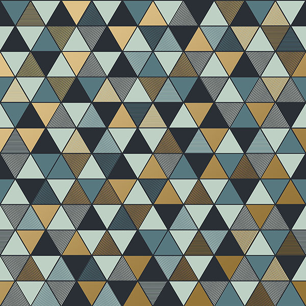 Engblad & Co by Brewster 8809 Triangular Multicolor Geometric Wallpaper