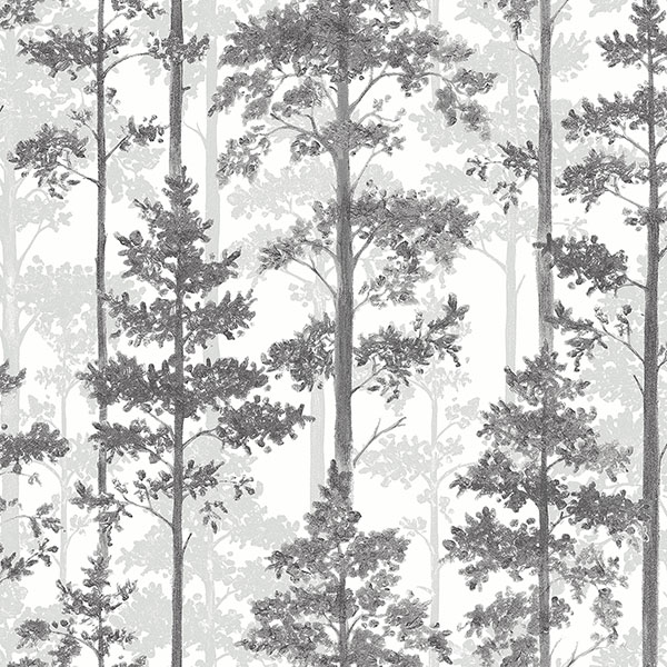 Engblad & Co by Brewster 8827 Pine Multicolor Silhouette Trees Wallpaper