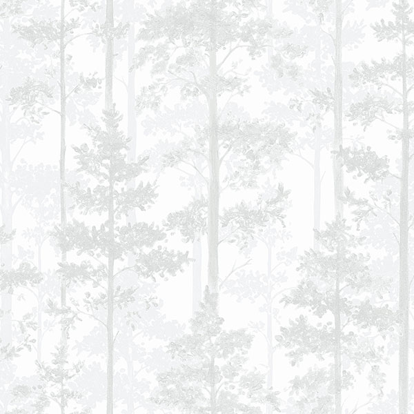 Engblad & Co by Brewster 8828 Pine Off-White Silhouette Trees Wallpaper