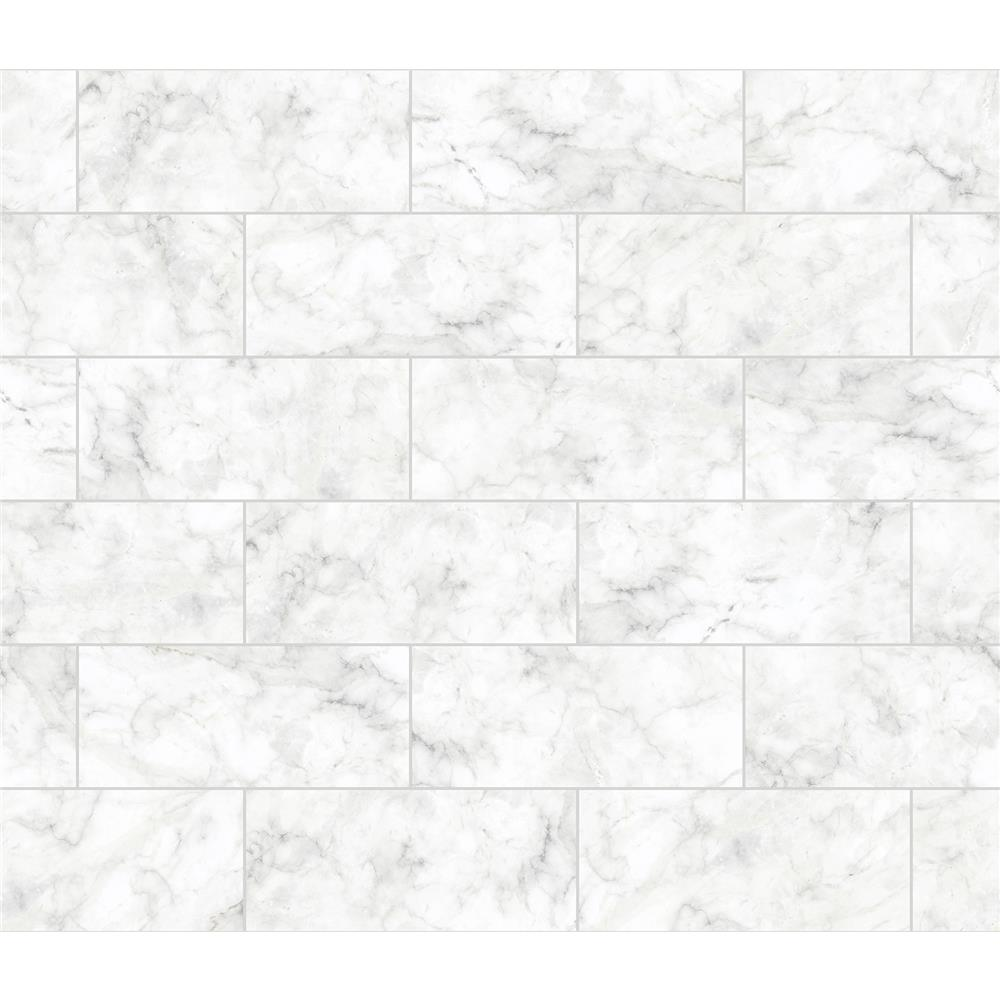 Brewster BHF3046 Marble Tile Peel & Stick Backsplash