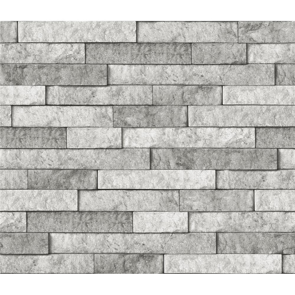 Brewster BHF3049 Grey Stone Peel & Stick Backsplash