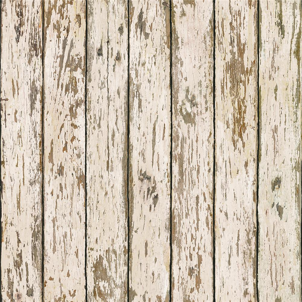 Chesapeake by Brewster CCB13282 Weathered Brown Wood Wallpaper