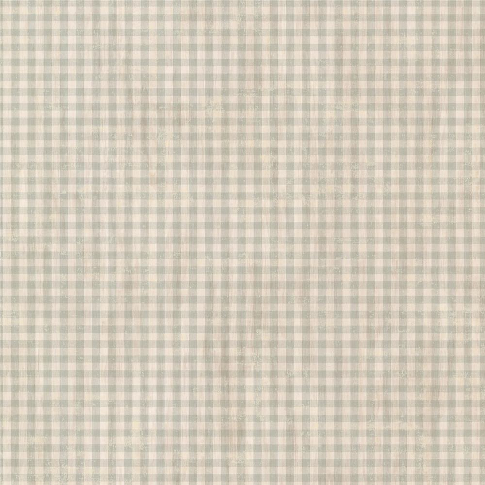 Chesapeake by Brewster CCB44014 Gingham Sage Check Wallpaper
