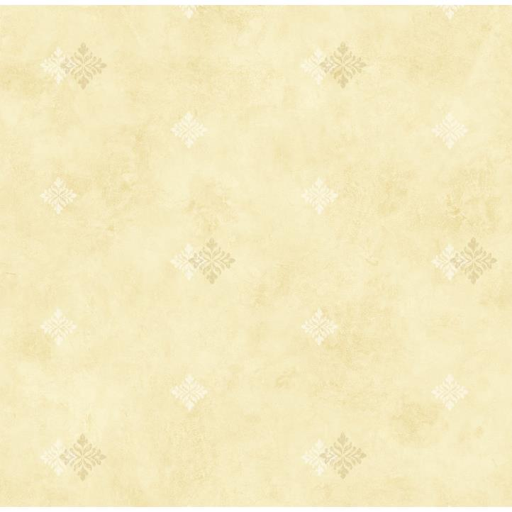 Chesapeake by Brewster CKB77753 Kitchen; Bed; & Bath Yellow Diamond Medallion Wallpaper in Yellow