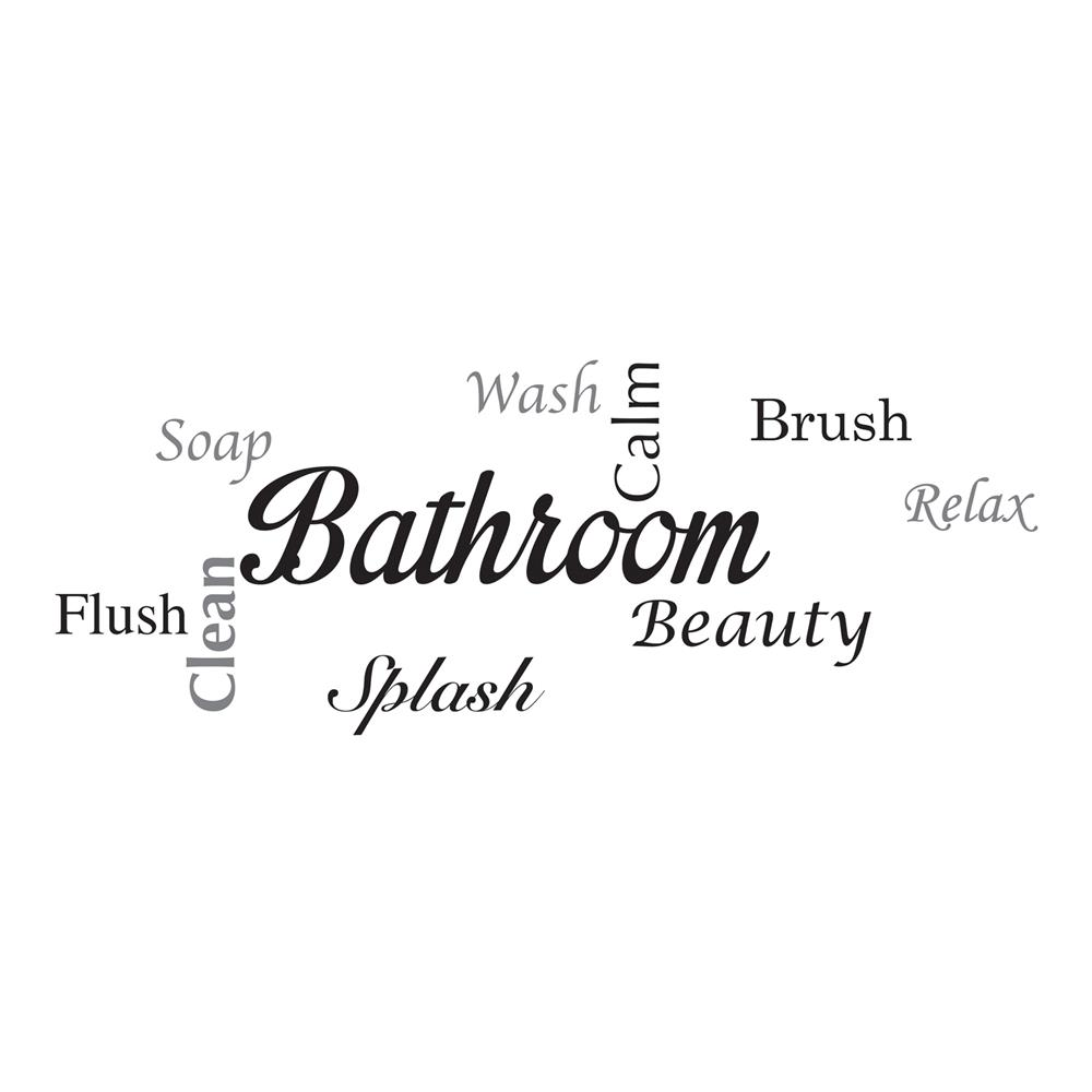 Home Decor Line by Brewster CR-62305 Home Decor Line Bathroom Wall Quote
