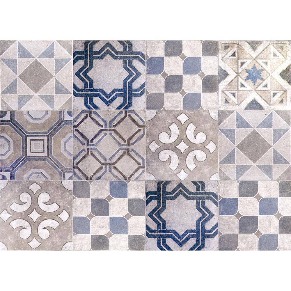 Home Decor Line by Brewster CR-67262 Vintage Tiles Kitchen Panel