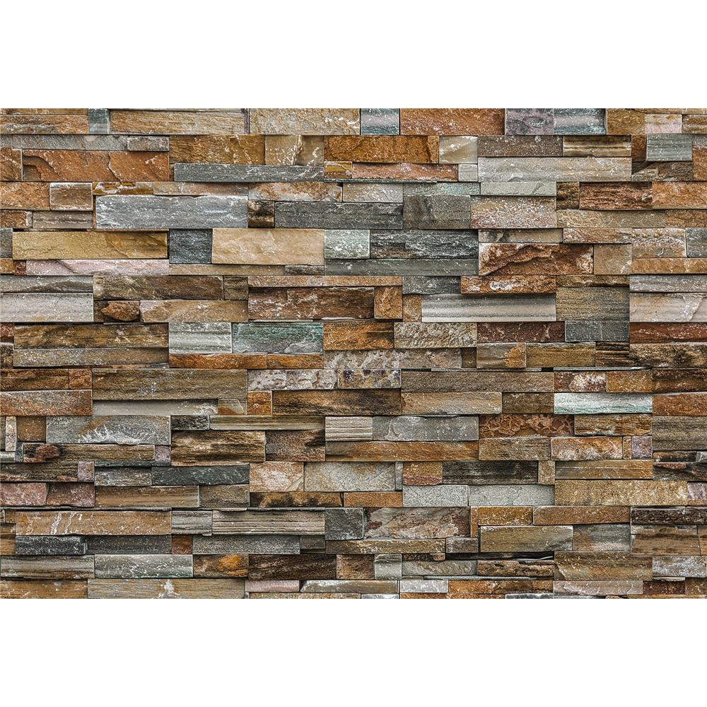 Ideal Décor by Brewster DM159 Colorful Stone Wall Mural