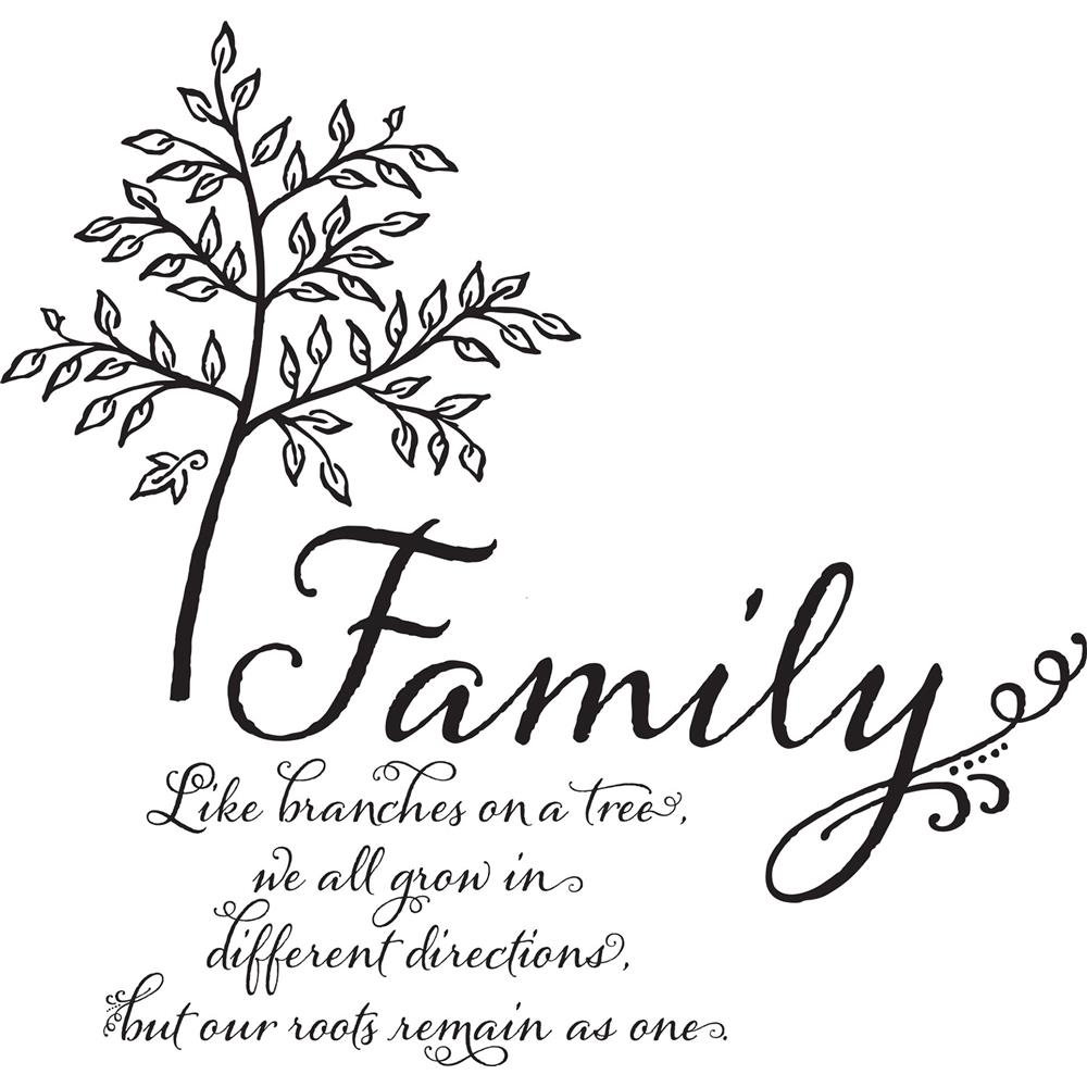 Wallpops by Brewster DWPQ2760 Family Tree Wall Quote