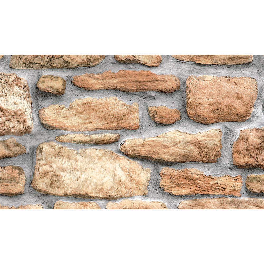 Fablon by Brewster FAB10226 Fablon Stone Wall Adhesive Film