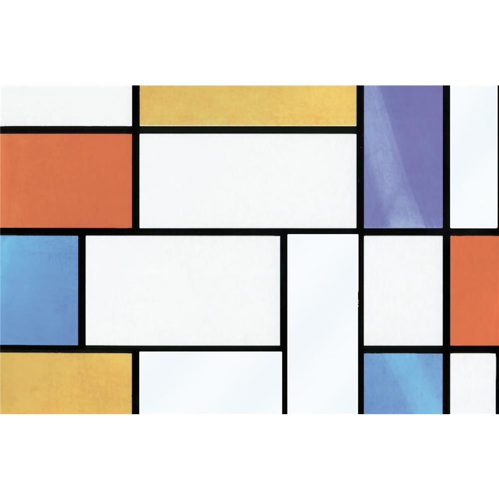 Fablon by Brewster FAB10520 Fablon Mondrian Window Film