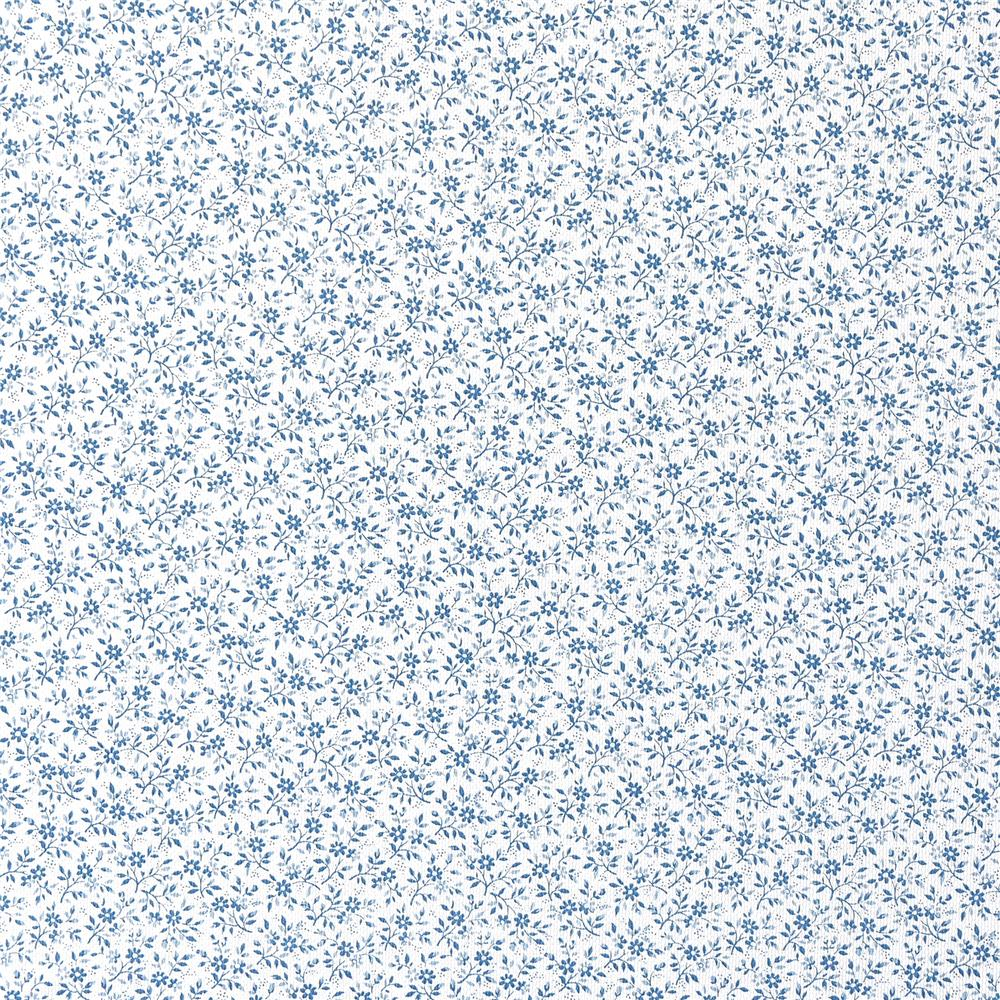 Fablon by Brewster FAB11490 Small Floral Blue Adhesive Film