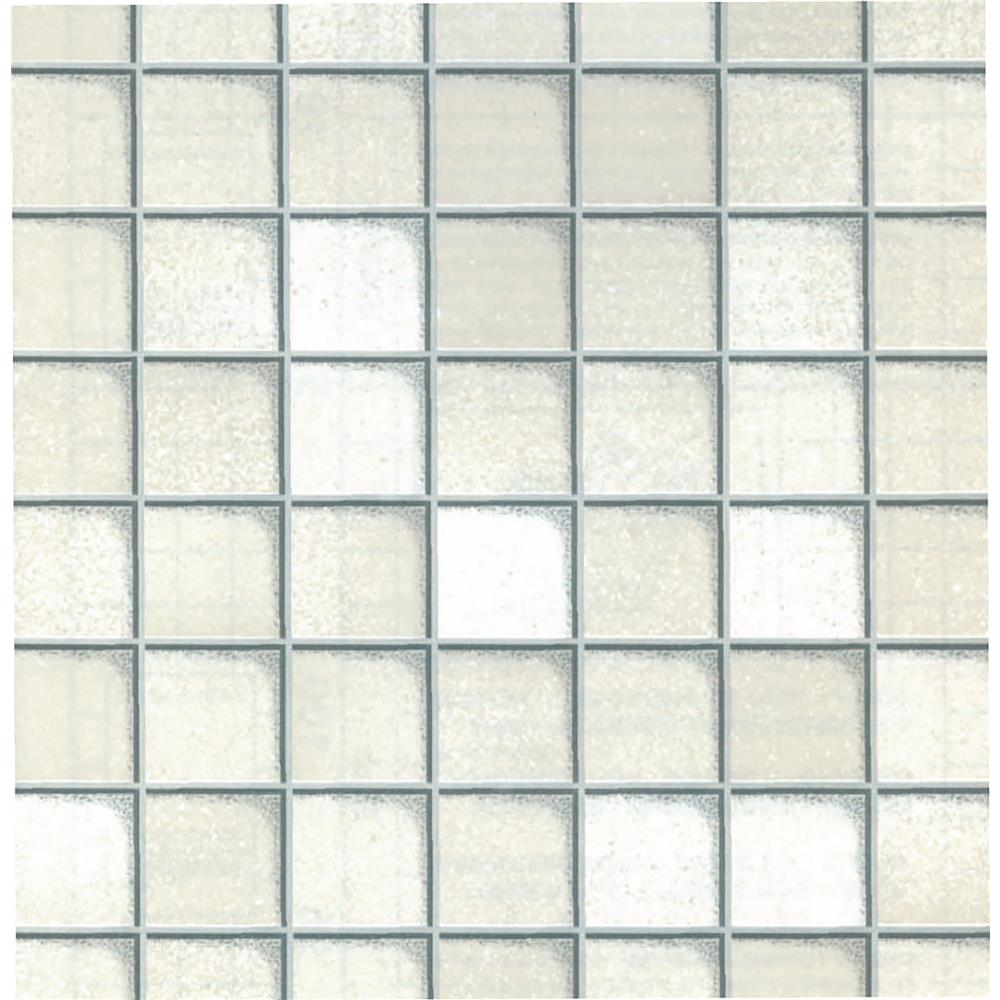 Fablon by Brewster FAB11512 Fablon Tiles White Adhesive Film