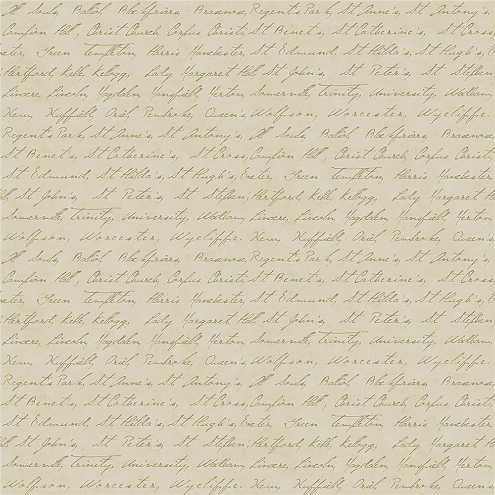 Brewster IWB00835 Emeritus Gold Calligraphy Wallpaper